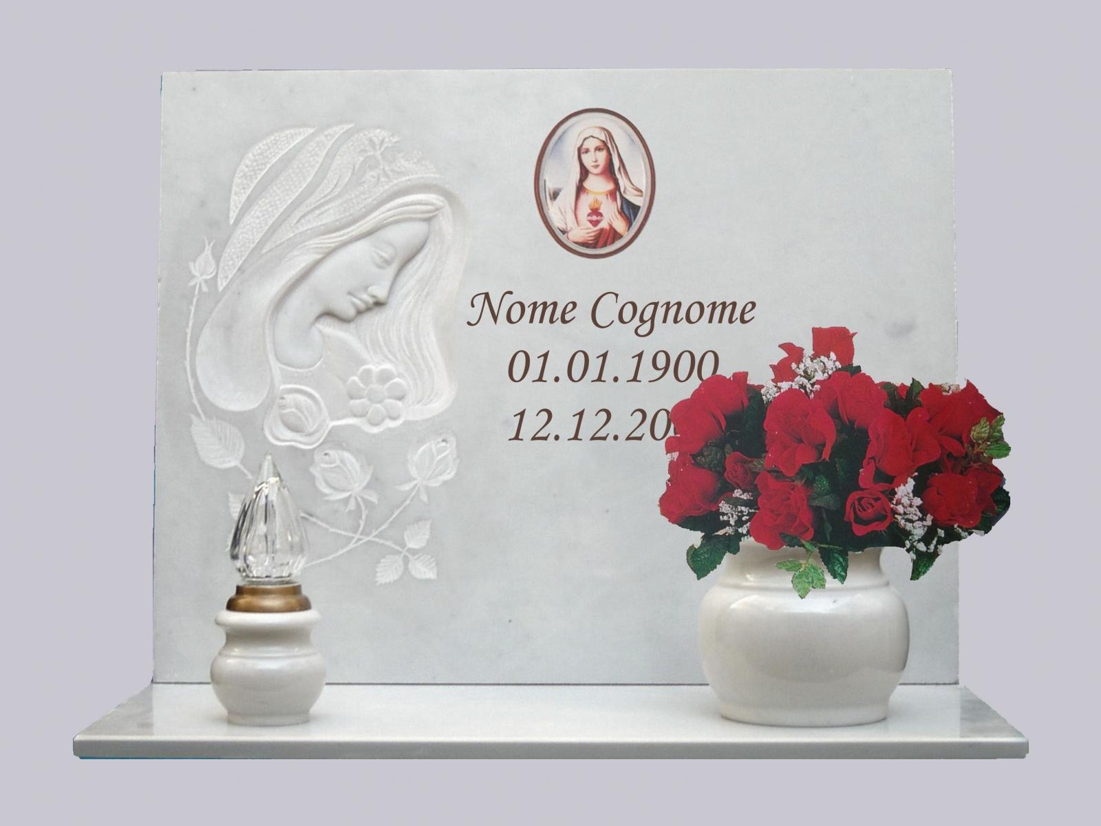 lapide scultura bianca