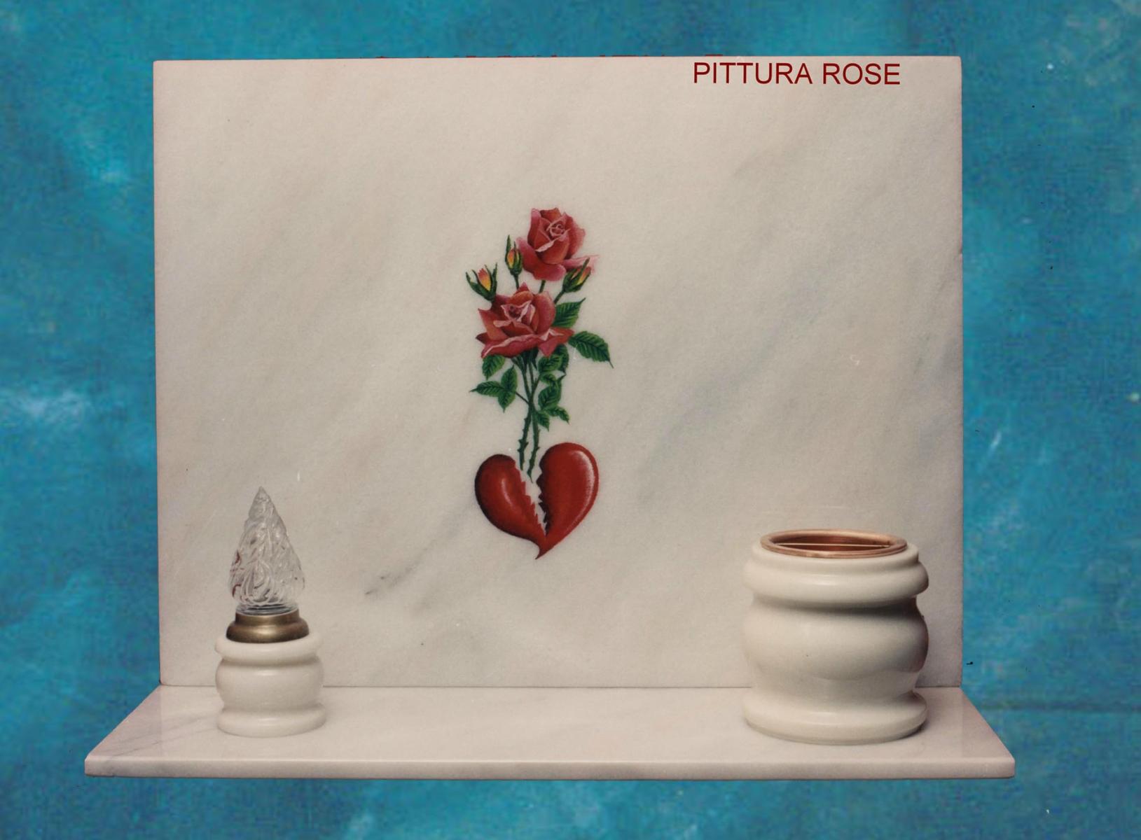 rosè con rose pitturate